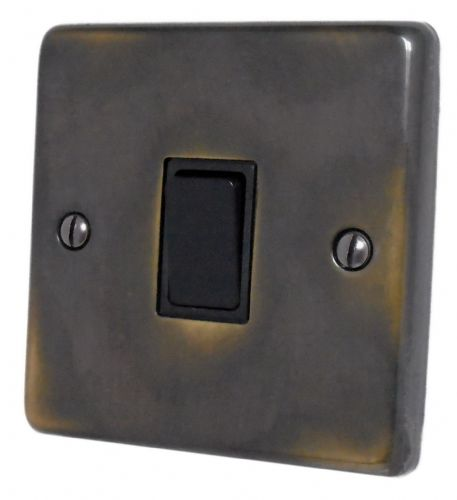 G&H CAN1B Standard Plate Polished Aged Brass 1 Gang 1 or 2 Way Rocker Light Switch